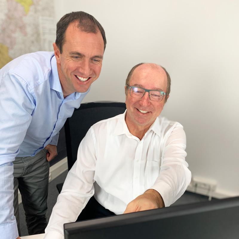 Kita-Info-App Gründer Peter Horner und Lothar Ganter